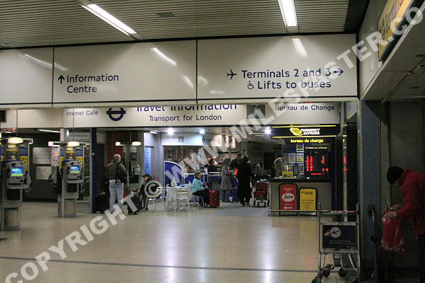 Heathrow airport train and tube services telephone booths and currency exchange as well as extensive ticketing and information services see london transport guide for fares heathrow tube sciox Choice Image