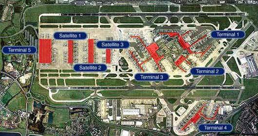 Heathrow Airport Terminal 5 information terminal five